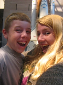 My brother and I at the Smithsonian Air & Space Museum in DC. 2007.