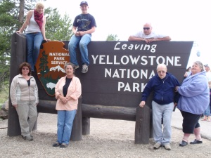 My family (with the grandparents!) at the end of my Yellowstone Summer.